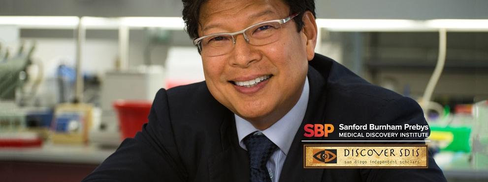 Jerold Chun, M.D., Ph.D. with SBP and SDIS logos