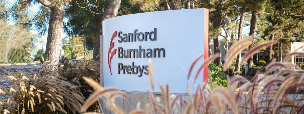 Sanford Burnham Prebys campus sign