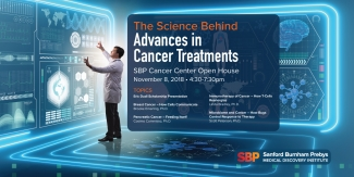 SBP Cancer Open House graphic